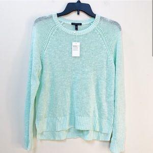 NWT Eileen Fisher Mint Green Linen Sweater XS